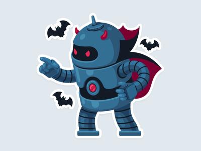 Robocula vampire topvisor robot dracula halloween
