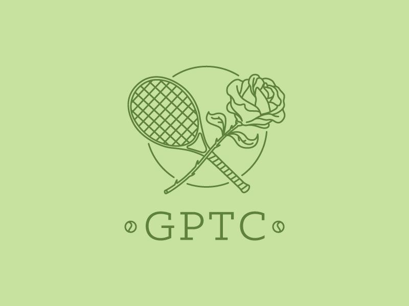 Greater Portland Tennis Council Logo portland pdx tennis logo rose linedrawing