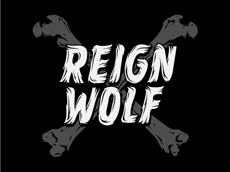 Reignwolf Merch Concept fur reignwolf tshirt merch wolf bones apparel vector hairy