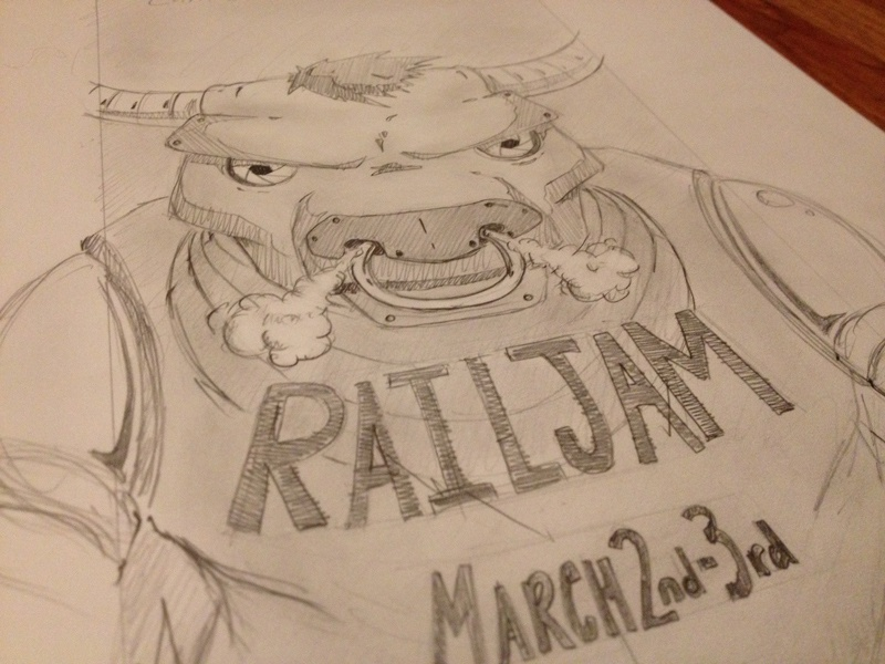 Rail Jam Sketch 2