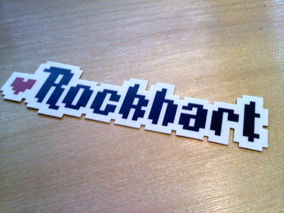 Rockhart Logo Sticker rockhart sticker video games 8 bit
