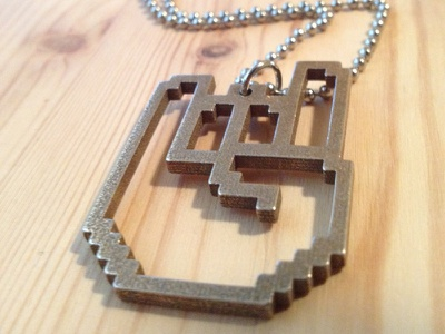 Rockhart Test Piece rockhart pixel 8-bit video games 3-d printing metal
