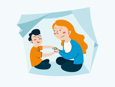 Mom and children Illustration minimalist design minimal illustrator vector illustration flat