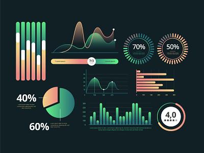 Dashboard element collection template dashboard illustration vector ui freepik free vector branding app infographic icon design