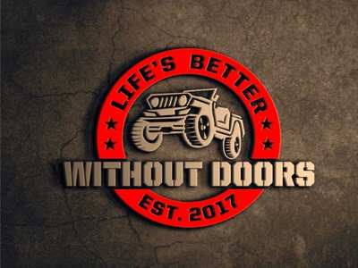 logo design project for life's better without door jeep logos powerfull adventure rugged jeep sports logo branding design ilustrator logo design logo gravisio brand agency brand design brand identity