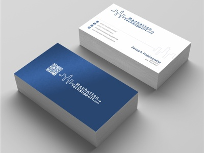 Business card design for manhattantechsuppor with simple QR code tech support manhattan business logo logos logodesign business cards ardifa 99designed business card design business card corporate design brand design logo design logo gravisio brand identity brand agency