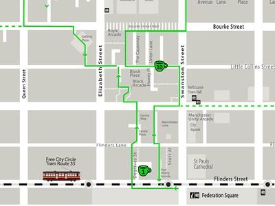 Melbourne Coffee Tour Map