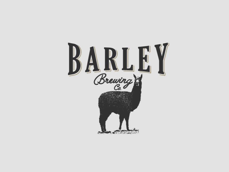 Barley Brewing Co. beer pen animal llama branding logo
