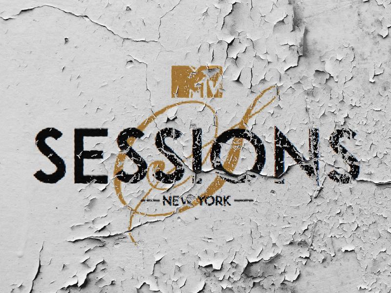 MTV Sessions music grunge new york calligraphy sans serif logo