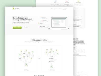 Reportnest status reporting design web clean app landing