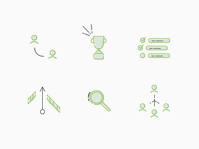 Reportnest Icons illustration landing stroke icons
