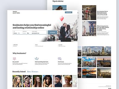 Guardian Soulmates post blog profile web social whitespace clean dating