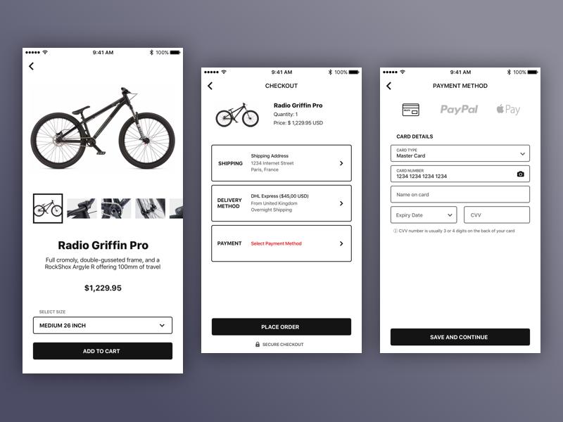 Worm - Shop ui flow white clean minimal ios app store ecommerce