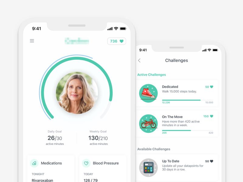 Heart Health Tracking App health ios mobile ux minimal clean ui