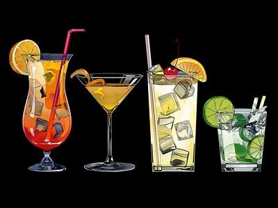 Cocktail Illustration 01 digitalillustration digitalart cocktailillustration cocktail foodillustration illustration