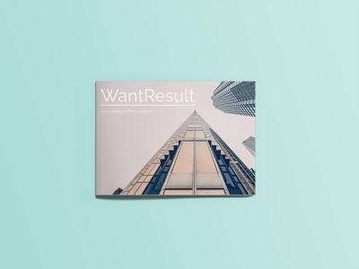 Cover for an IT company minimal typography ux ui flat web design illustraion branding vector