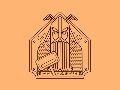 Linear illustration Thor