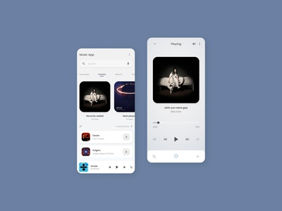 App design for music player