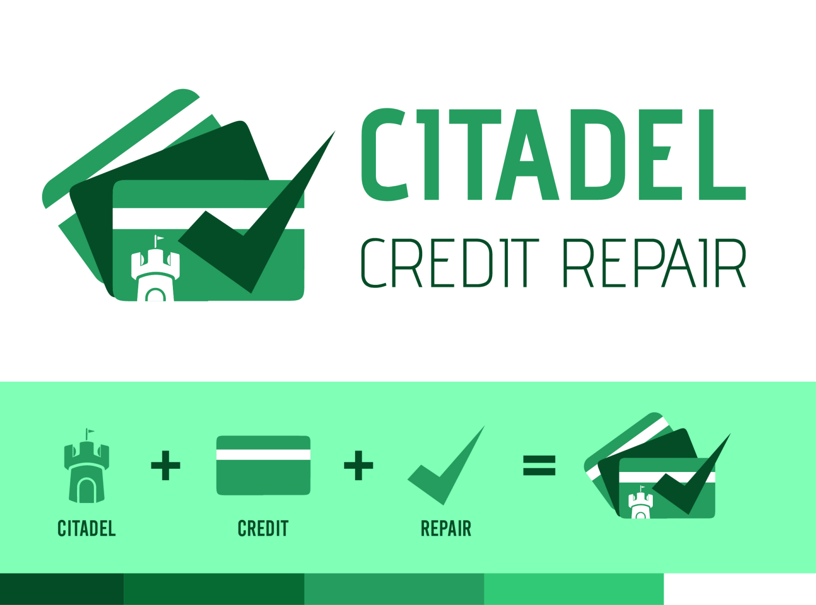 Citadel Credit Repair Logo Design By Impressions By Tayyab On Dribbble