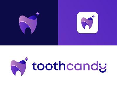 Tooth Candy Logo Design Idea luxury logo purple color logo purple sparkle teeth dentistry dentist logo tooth candy logo tooth candy candy logo tooth logo minimalist logo minimal logo brand identity geometric logo logo design 3d logo branding logo
