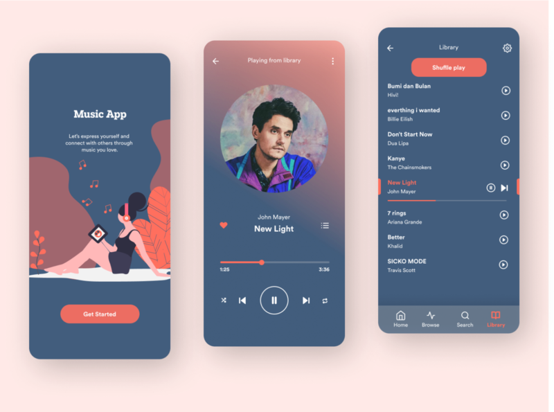 Simple Music Player App