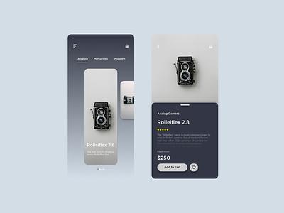 Camera App Exploration uiux ui trends mobile product design mobile ui figmadesign design exploration minimalist ios uidesign ui clean appdesign app