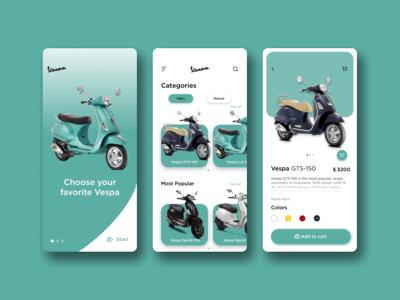 Vespa Shop App Exploration