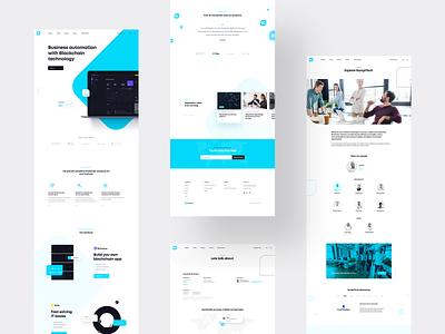 Kompitech subpages design white webdesign blue ux ui clean