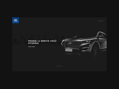 Hyundai dealer service car dark grey black hyundai