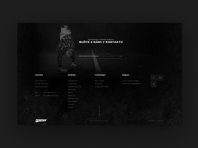 Just a footer ecommerce black and white black ui ux footer