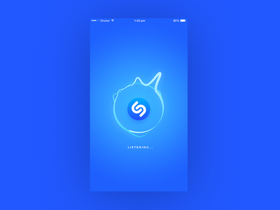 Shazam concept blue music mobile design ux ui shazam