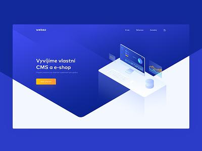 Web development agency webdesign clean blue white ux ui