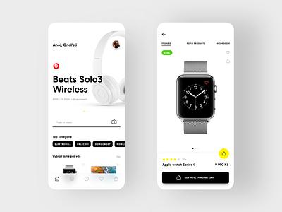 Product comparison app app design black yellow mobileapp mobile app design ui ux clean