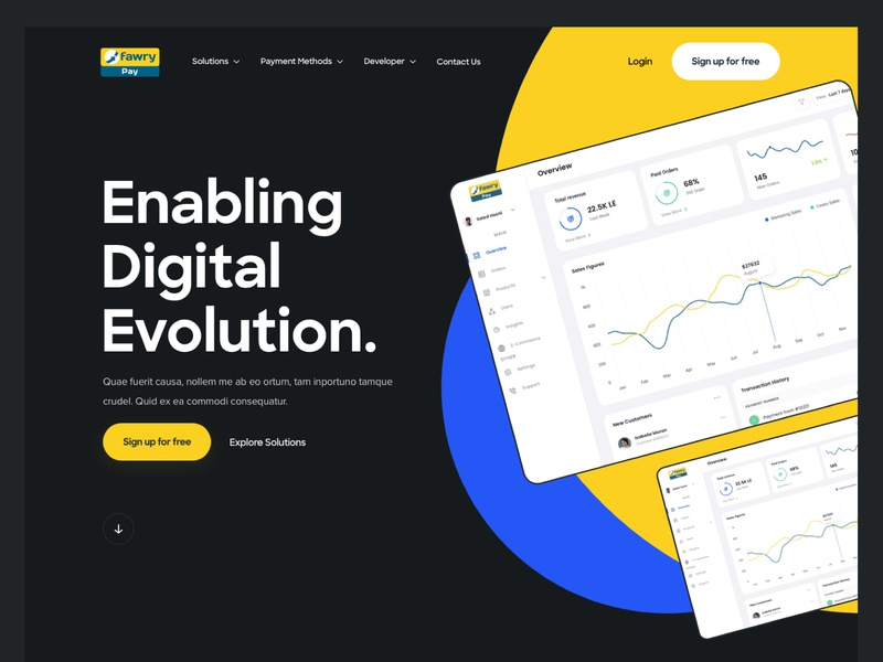 Fawry Pay product design web design solutions payment product home website clean web ui ux design