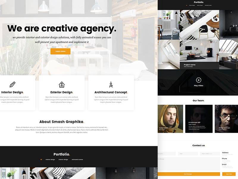 Smash Graphika minimal clean architecture design ux ui web design web