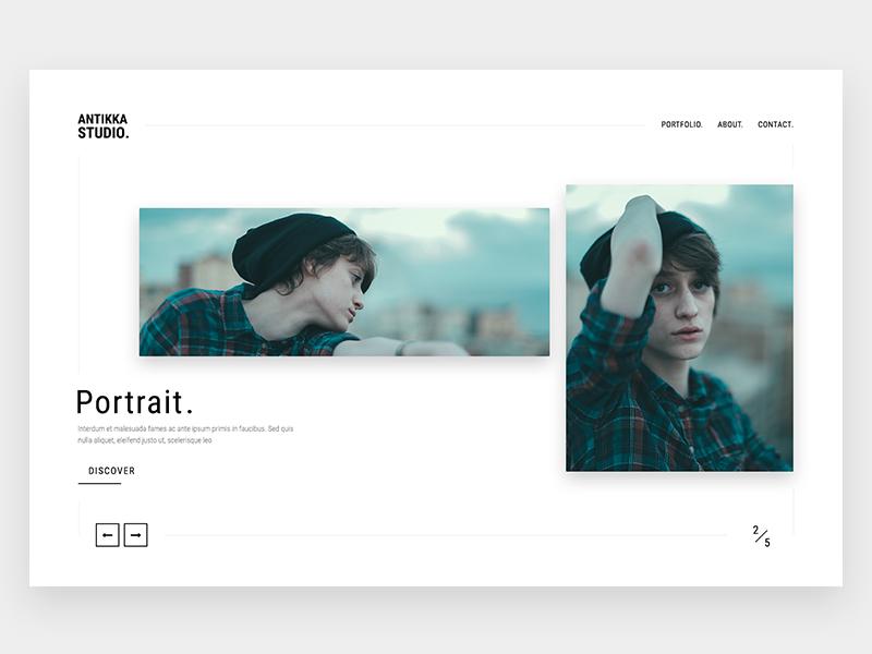 Antikka Photography minimalistic portfolio classy design clean simple photography website web minimal