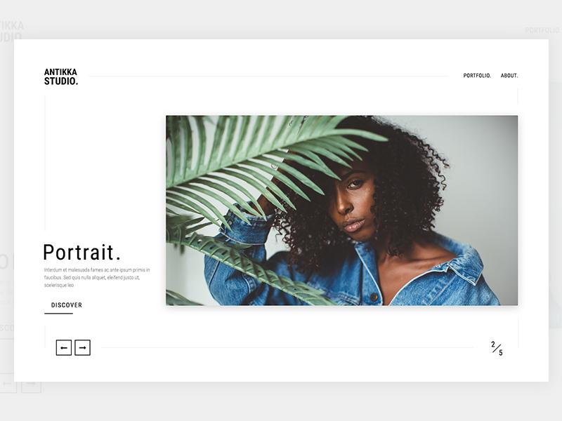 Antikka Photography v2 minimalistic portfolio classy design clean simple photography website web minimal
