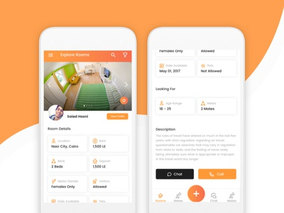Hostel App android material ios hostel design room clean ux ui page app mobile
