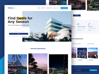 Booking.com Redesign colours interaction concept redesign web website design home clean ux ui booking