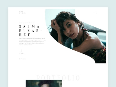 Salma ElKashif photography interaction concept minimal web website design home clean ux ui