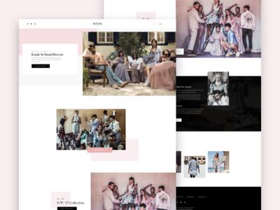 kojak studio web website studio fashion simple clean design portfolio minimal minimalism