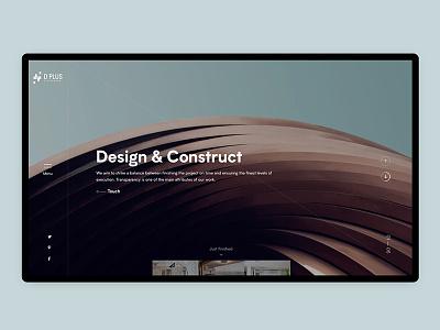 DPlus animation architechture interior architecture interior website interaction ux ui web design