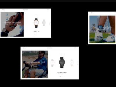 Gent Watches concept classy page home simple interaction minimal website ui ux clean web design