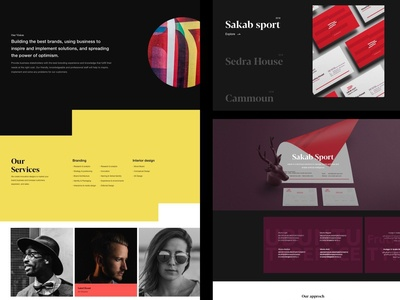 Bordainy - Branding Studio portfolio animation interaction minimal home website ux ui clean web design
