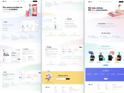 BotMe - Inner Pages flat bots bot website web ux user interface user experience ui product page landing illustrations illustration icons iconography design dashboard art app
