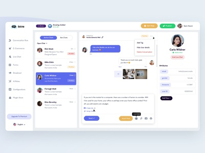 Chat Handover botme users people conversation chat product design dashboard bot product design clean web ux ui