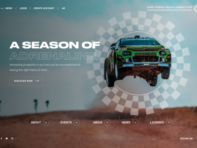 SAMF | Immersive Game-Inspired Web Experience rally interactive rally game cars animation simple minimal interaction home website clean web ux ui design