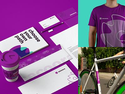 Sacoora stationary design stationery flat vector illustrator icon logo design corporate identity branding brand identity brand design