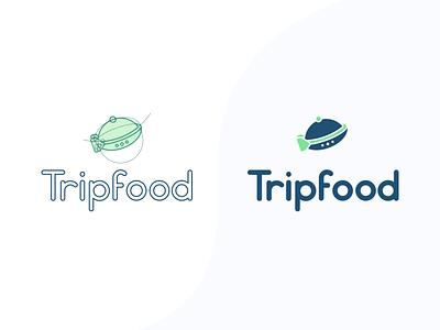 Tripfood logo design illustrator graphics graphic design logo design flat design vector logotype logodesign logo