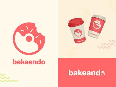 bakeando logo recipe app design typography graphic design branding brand identity flat illustrator vector logo logo design